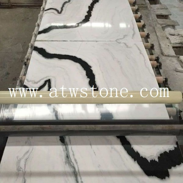 Panda White Marble Slabs in Book Match