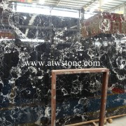 Black Flower Marble Slabs