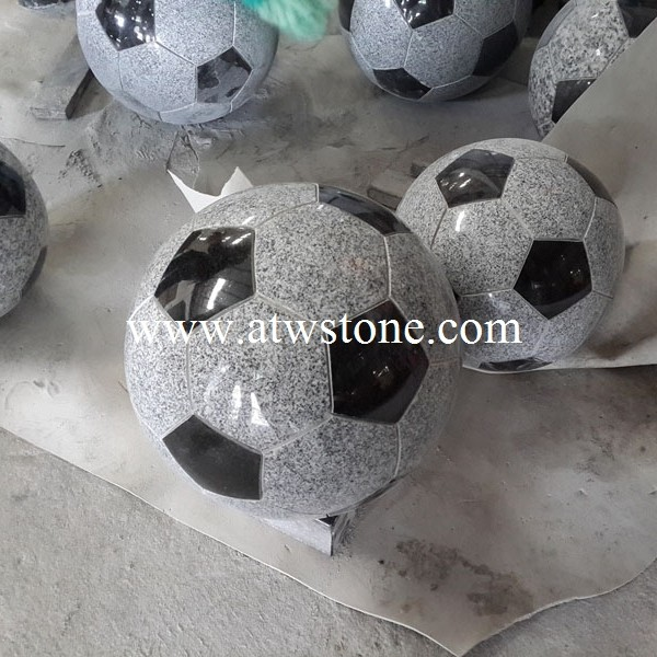 Granite Football Statue Carving