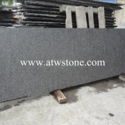 G684 Black Basalt Small Slabs Flamed