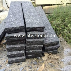 G684 Black Granite Pineapple Kerbstones