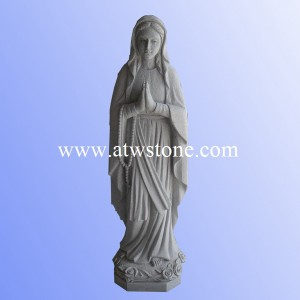 China Grey Granite Bless Mother Sculpture