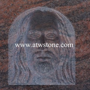 Twilight Red Granite Hand Carved Reverse Sculpture