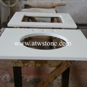 Super White Nano Glass Vanity Tops